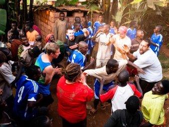 Justin Minott in Burundi