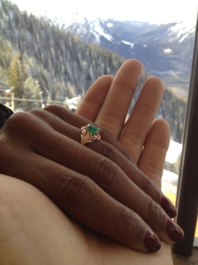 Natalie Adeleye and Justin Minott engagement ring